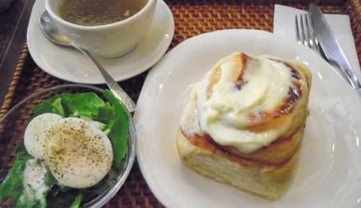 熊谷「Cinnamon cafe(シナモンカフェ)」でスウィーツビザのシナモンロールランチ