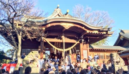 行田八幡神社で豆まきの巻