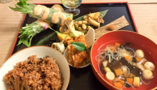 川島「チムニー」で酵素玄米とおそうざいランチ