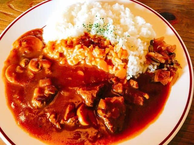 熊谷・レストラン高原ビーフカレーのアップ