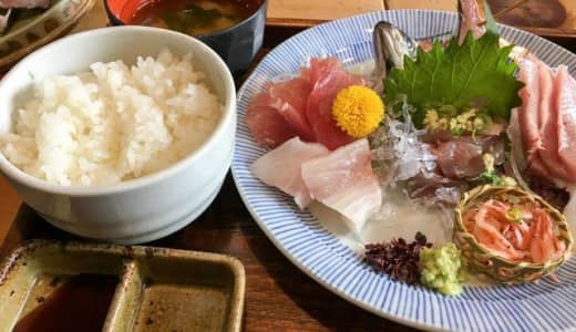 熱海駅周辺でランチ「囲炉裏茶屋」で伊豆近海の魚料理を味わってきた