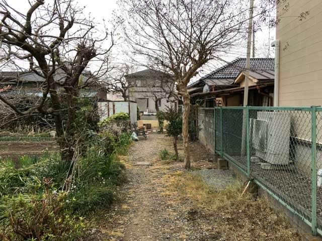 熊谷・妻沼ワイズカフェ前の道