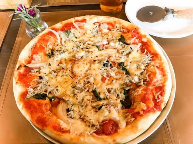 行田・HANIWAランチのピザ