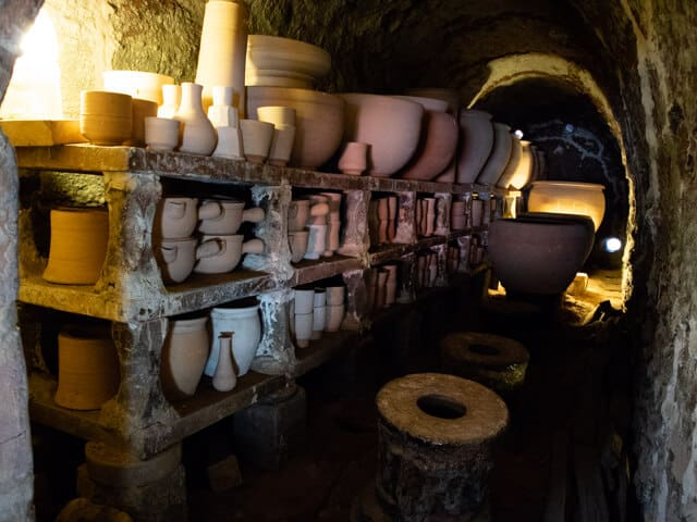 益子陶器市 窯の中
