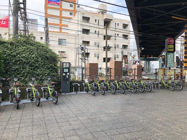 川越市自転車シェリング駐輪場