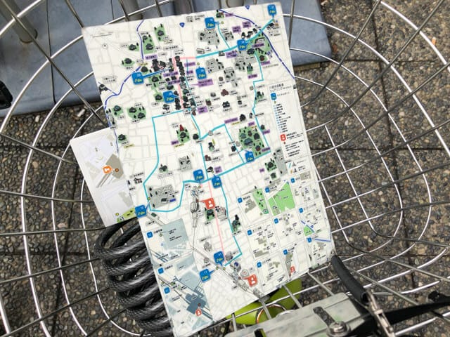 川越市自転車シェリング観光地図