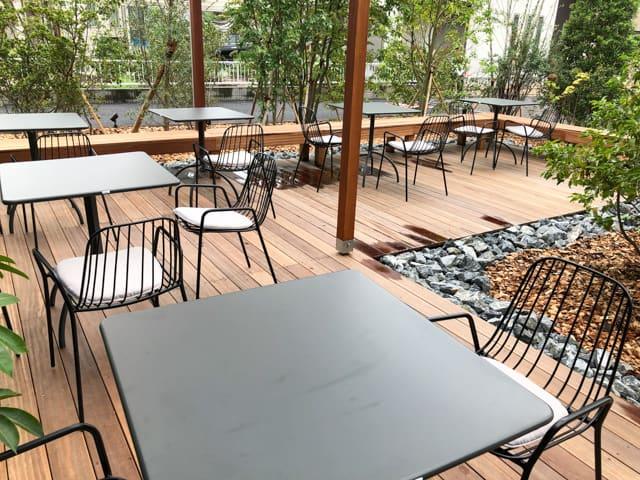 菊寿童のカフェザシェードツリーテラス