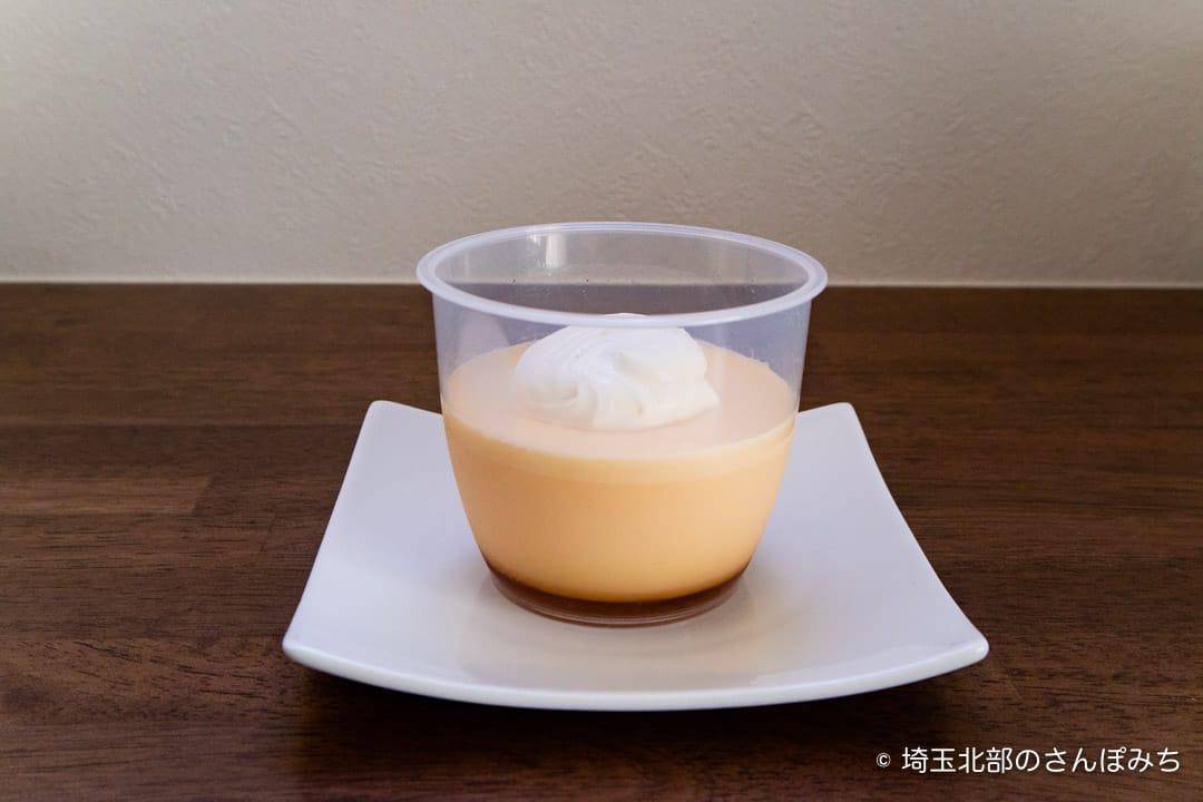 鴻巣ケーキ屋ククのこうのす卵のプリンアップ