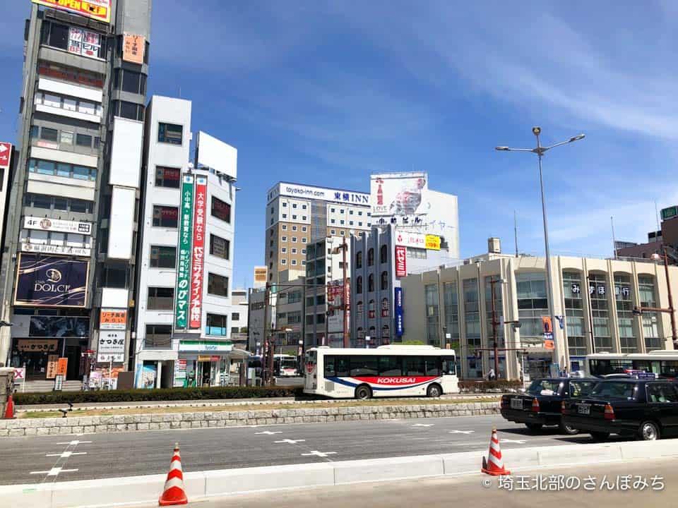 熊谷駅北口から東横イン