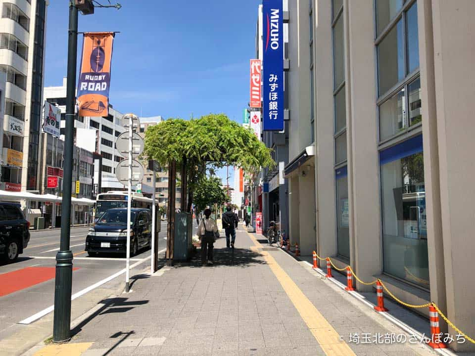 熊谷駅北口から東横インへの道