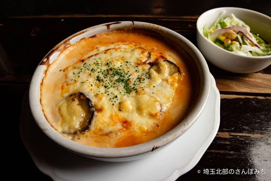 夢街道熊谷店のナスとミートソースのドリア