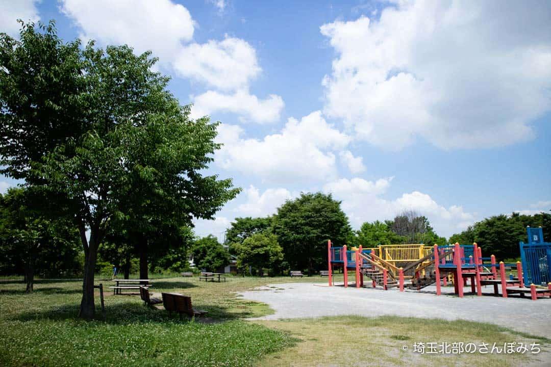 熊谷スポーツ文化公園子供の広場日陰