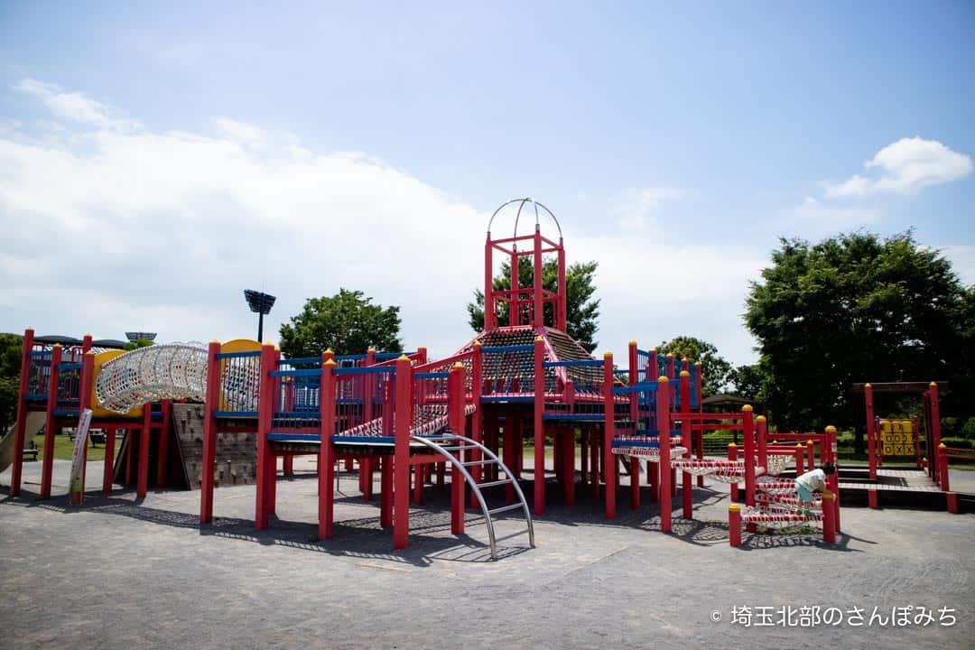 熊谷スポーツ文化公園幼児用の遊具