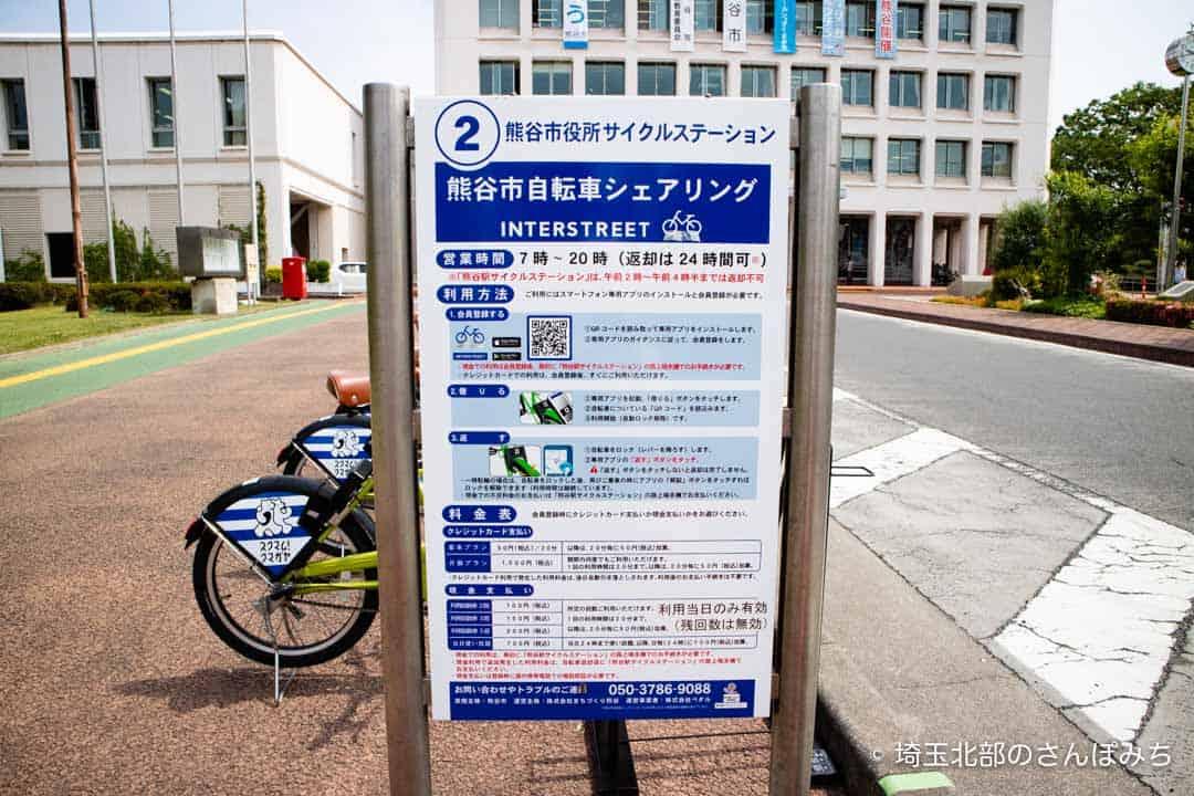 熊谷市自転車シェアリング(熊谷市役所)利用方法