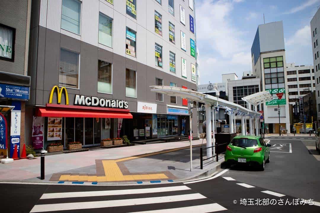 熊谷駅北口マクドナルド前