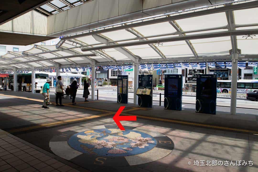 熊谷駅北口バスのりば