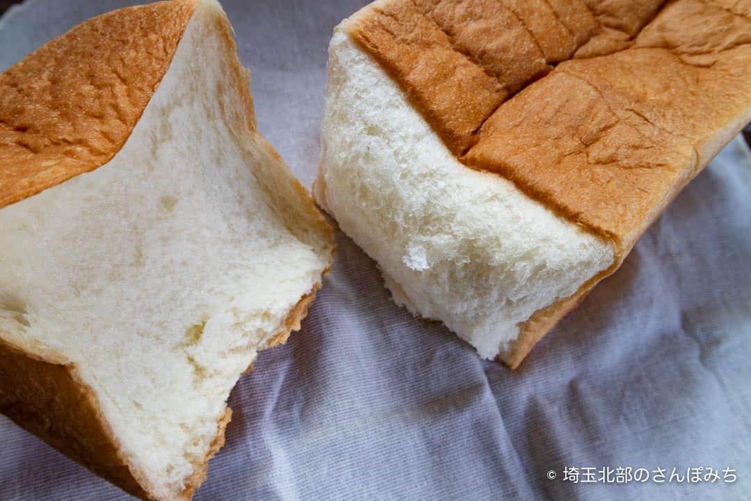 乃が美熊谷店食パンの断面
