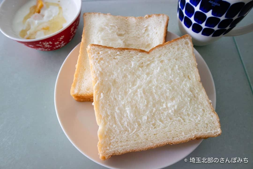 乃が美熊谷店食パンをスライス