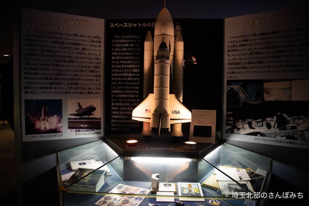 向井千秋記念科学館のスペースシャトル展示