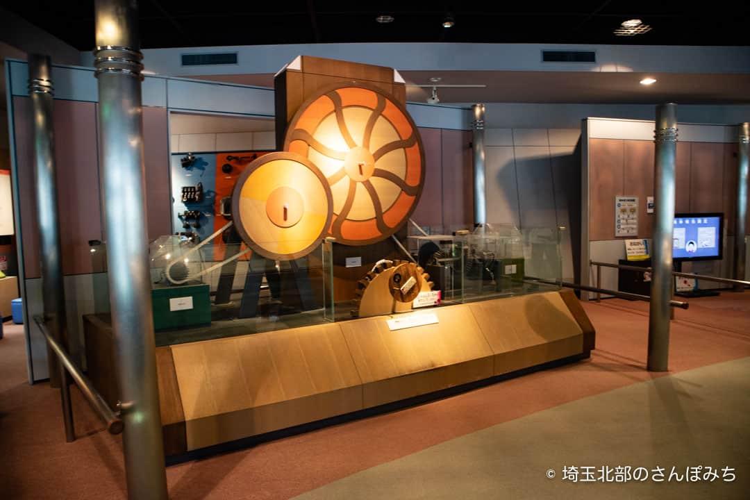 向井千秋記念科学館のオルゴールの実験装置