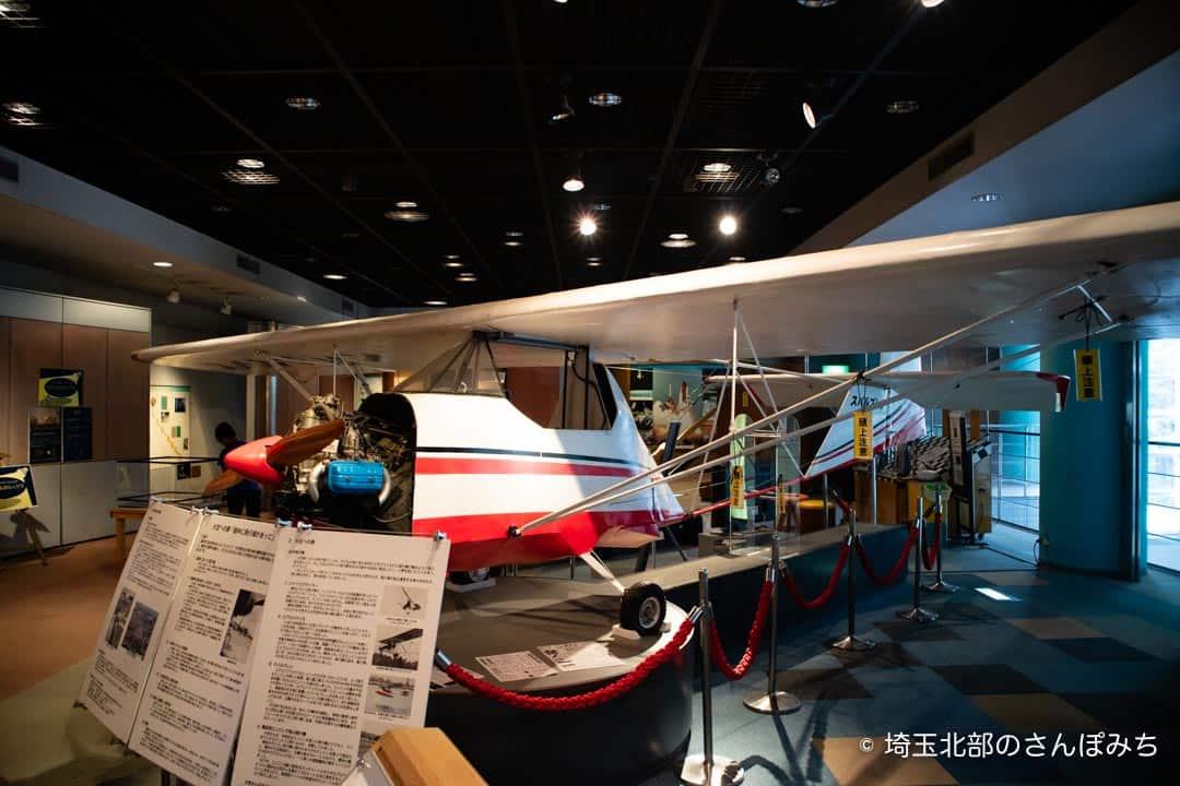 向井千秋記念科学館の手作り飛行機(スバルプレン)