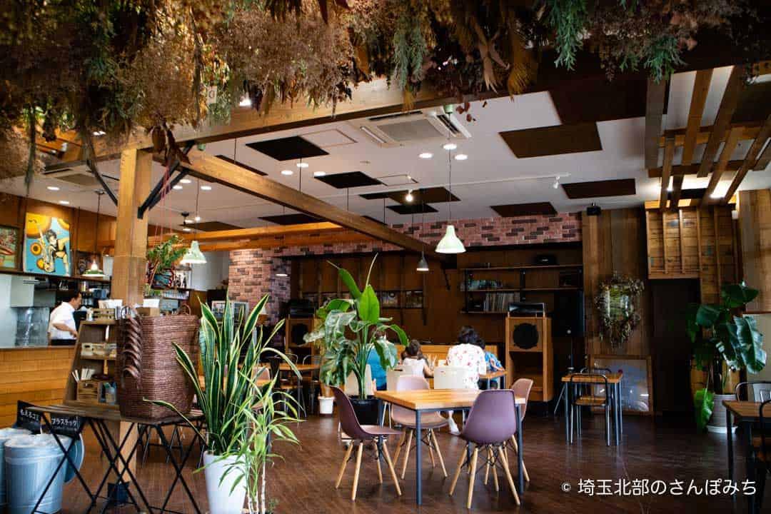 つつじが岡公園SUGAR HILL CAFEの店内