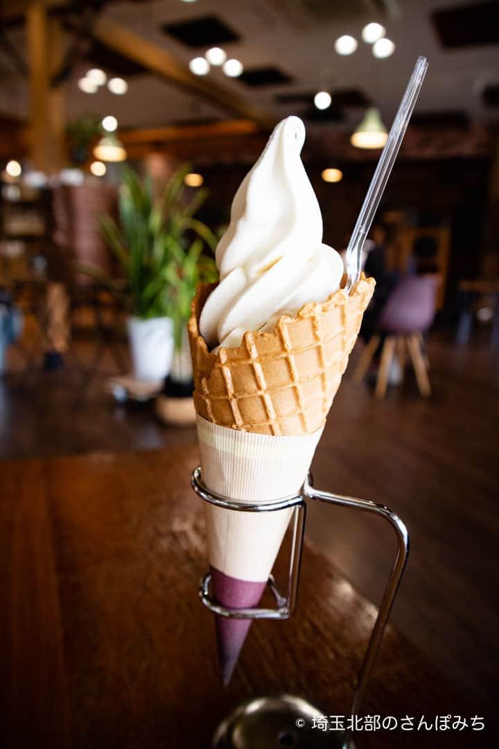 つつじが岡公園SUGAR HILL CAFEのソフトクリーム