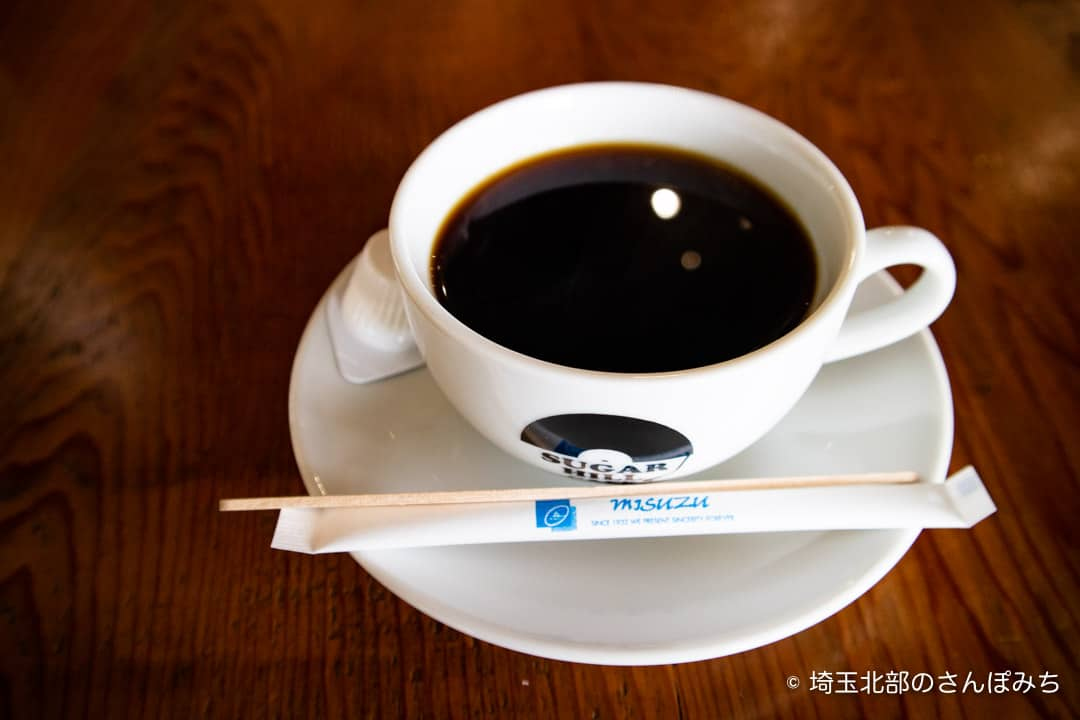 つつじが岡公園SUGAR HILL CAFEのコーヒー