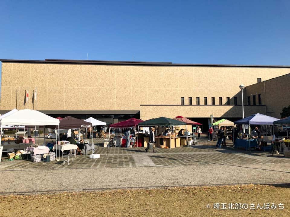 コーヒーと日常会場の様子(深谷城址公園)