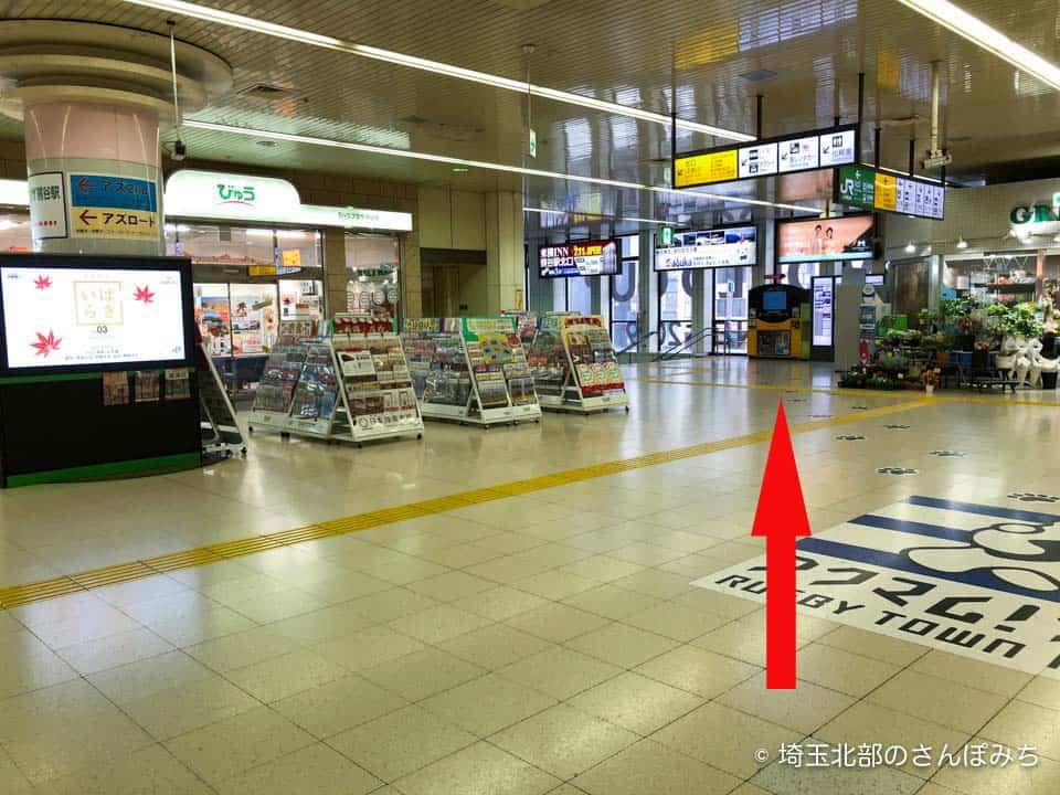 JR熊谷駅改札ひろば北口方面