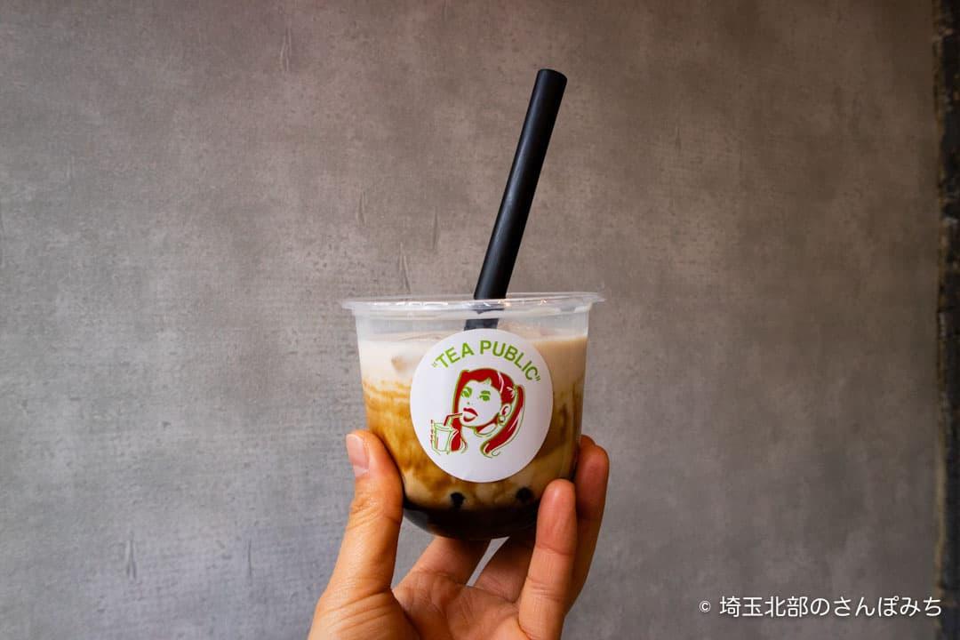 TEA PUBLIC熊谷店黒糖タピオカラテ