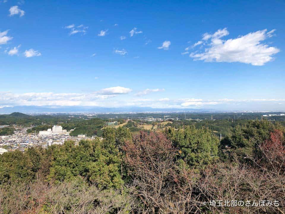 小川町見晴らしの丘公園展望台からの景色