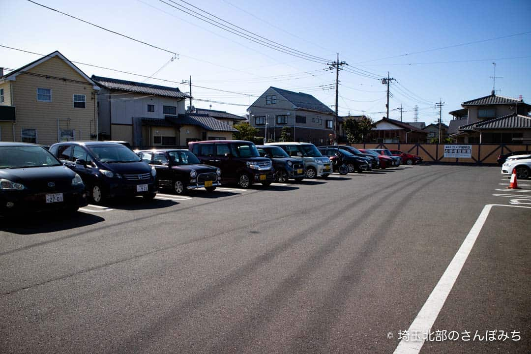 コメダ珈琲熊谷店の駐車場