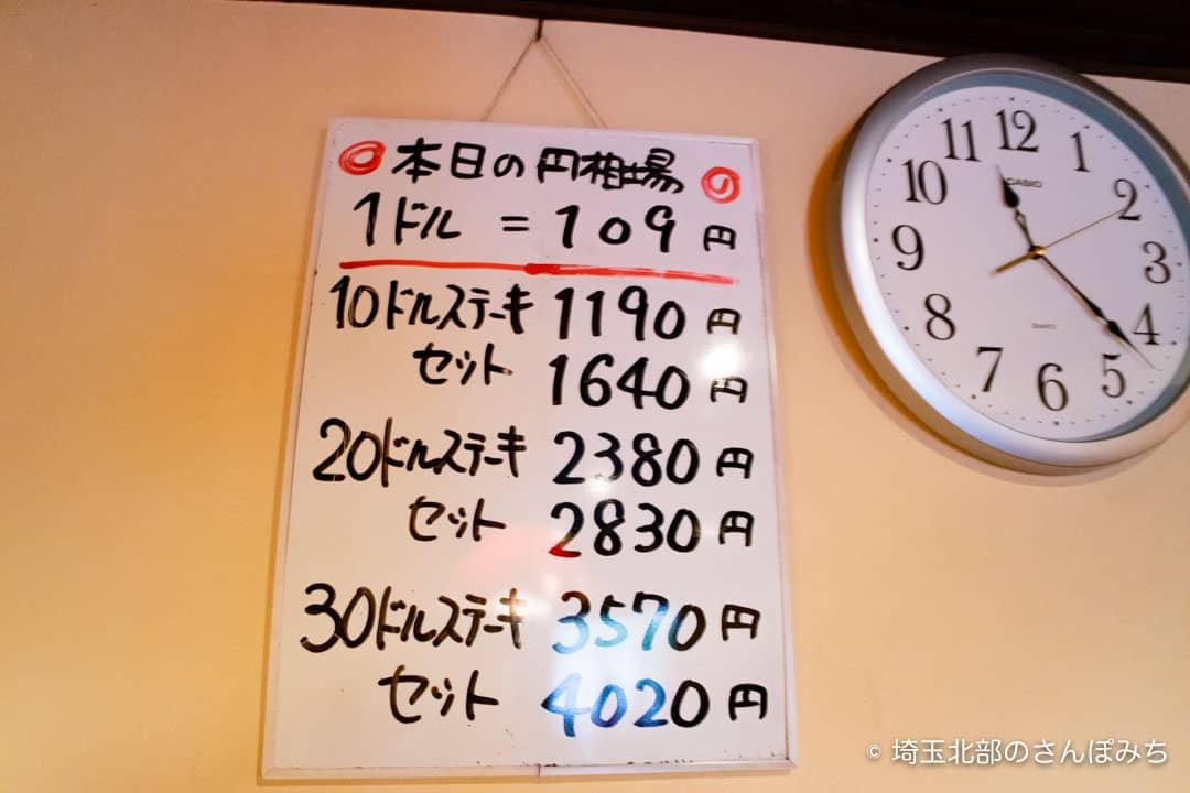 熊谷レストラン高原の円相場