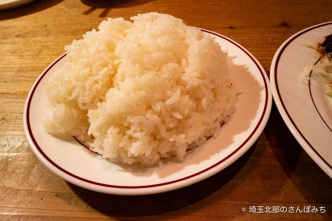 熊谷レストラン高原のライス中盛