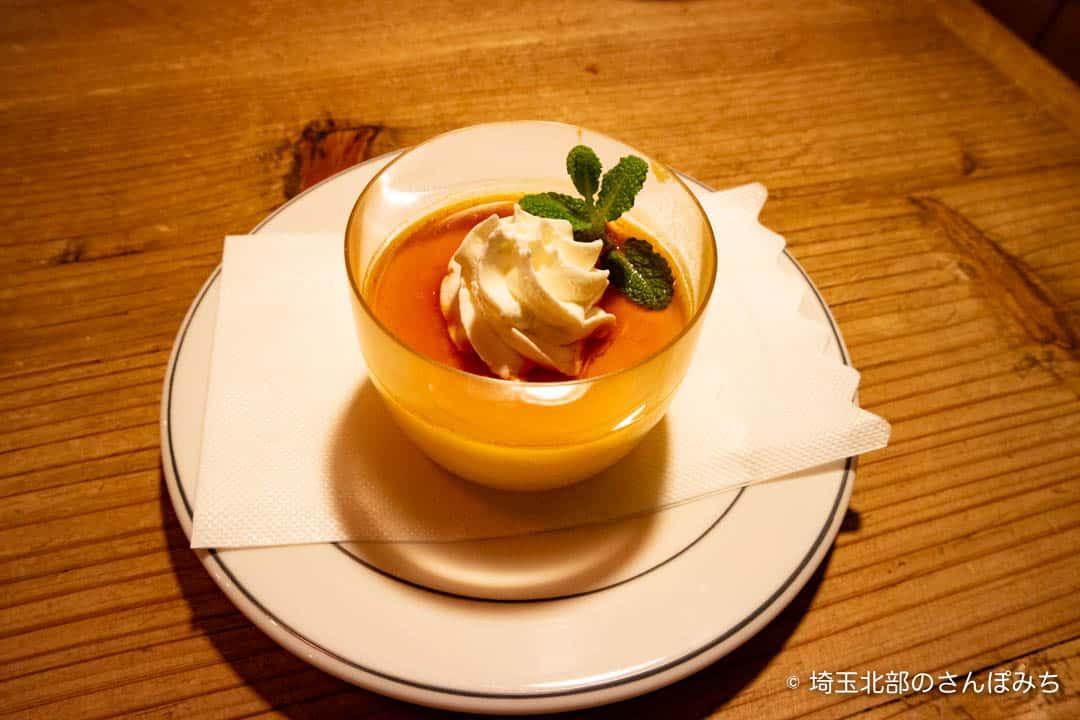 熊谷レストラン高原のかぼちゃプリン