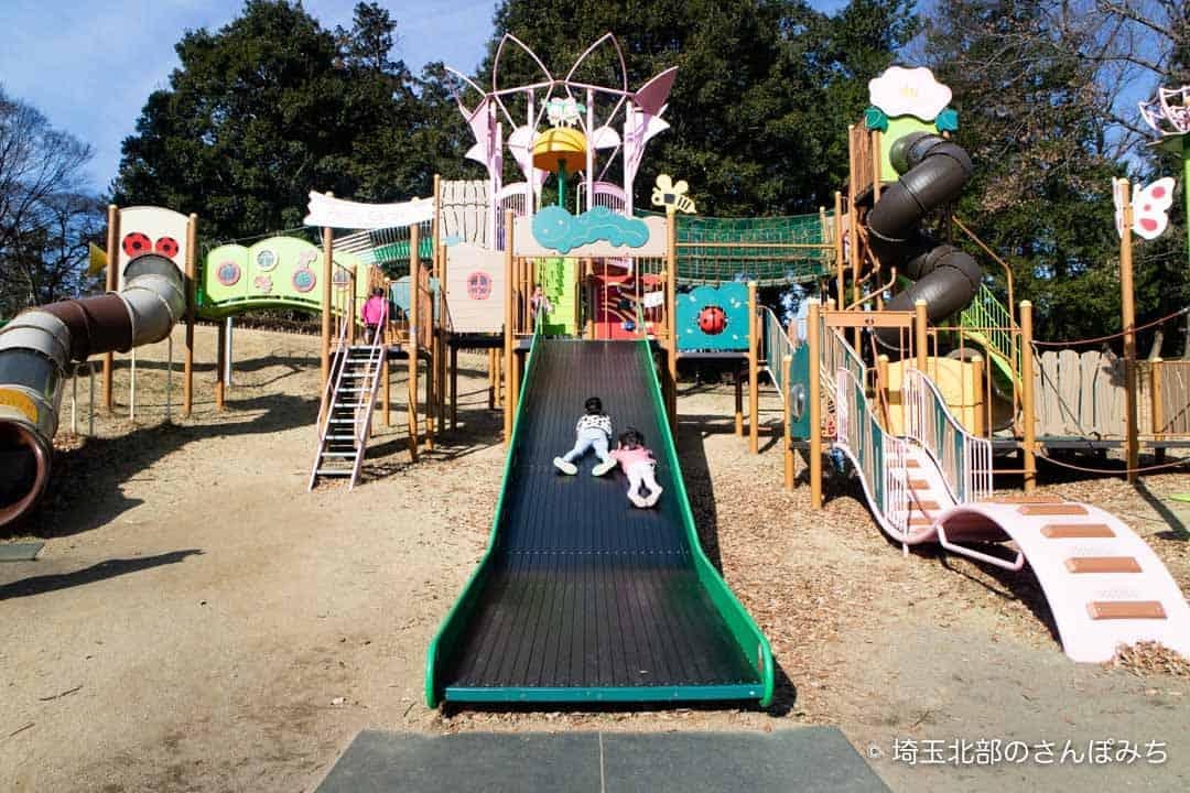 東松山ぼたん園広いすべり台