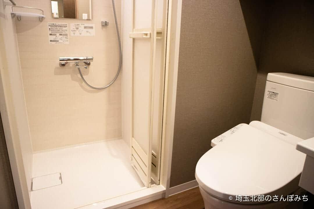 森林ホテルのシングルルームのトイレ
