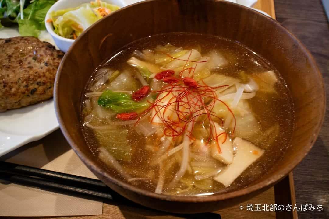 大慶堂ネオガーデンカフェの薬膳スープ
