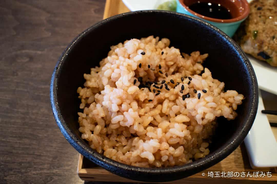 大慶堂ネオガーデンカフェの玄米ご飯