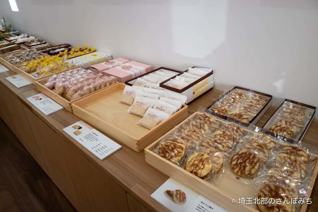 深谷・古伝餡浜岡屋カフェの和菓子