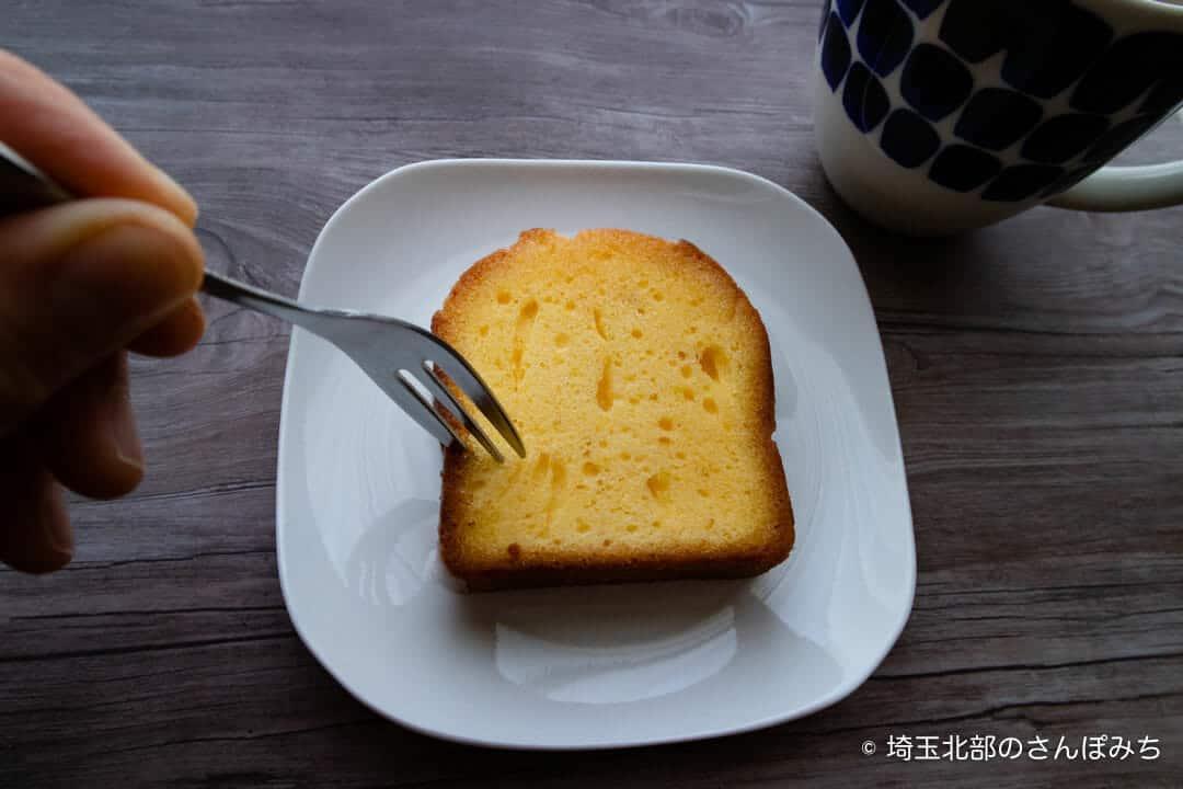 久喜菖蒲公園・カフェビーコンのレモンケーキを食べる