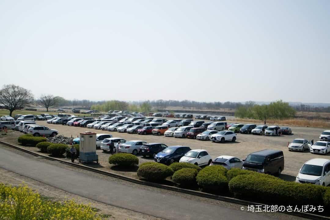 熊谷桜堤の駐車場(2018)