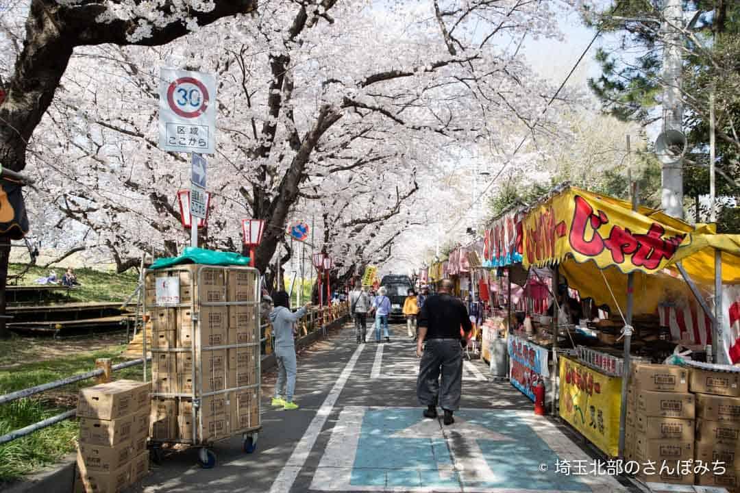 熊谷桜まつりの屋台(2018)