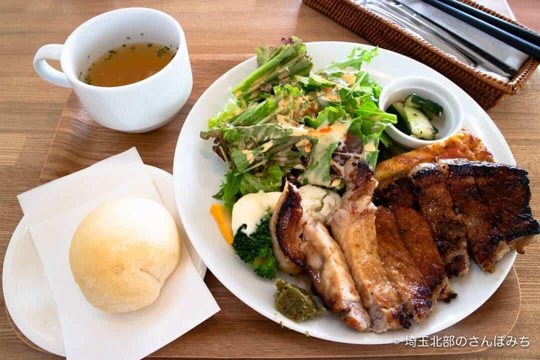 吉見・ハッピータイムの至福の味わい豚のポークソテー