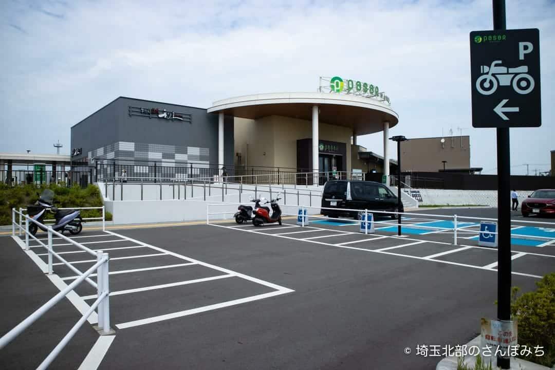 蓮田SA(上り)一般道の二輪車駐車場