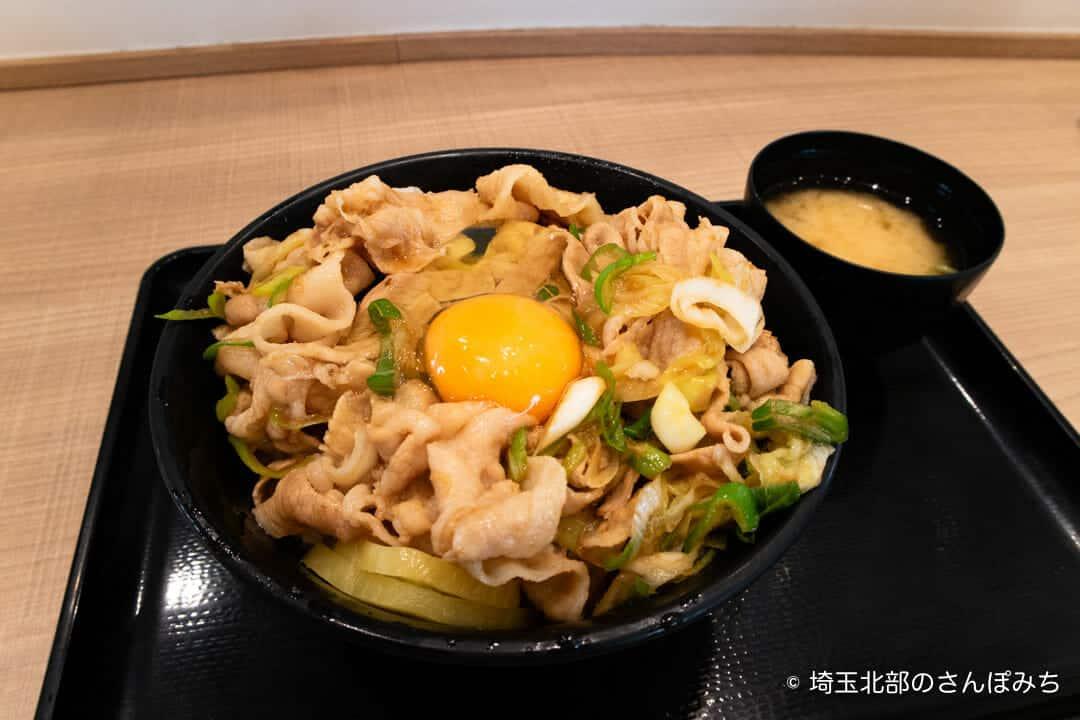 蓮田SA(上り)フードコートのすた丼生卵乗せ