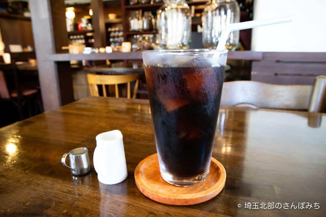 本庄・珈琲工房黒柳(クロヤナギ)モーニングのアイスコーヒー