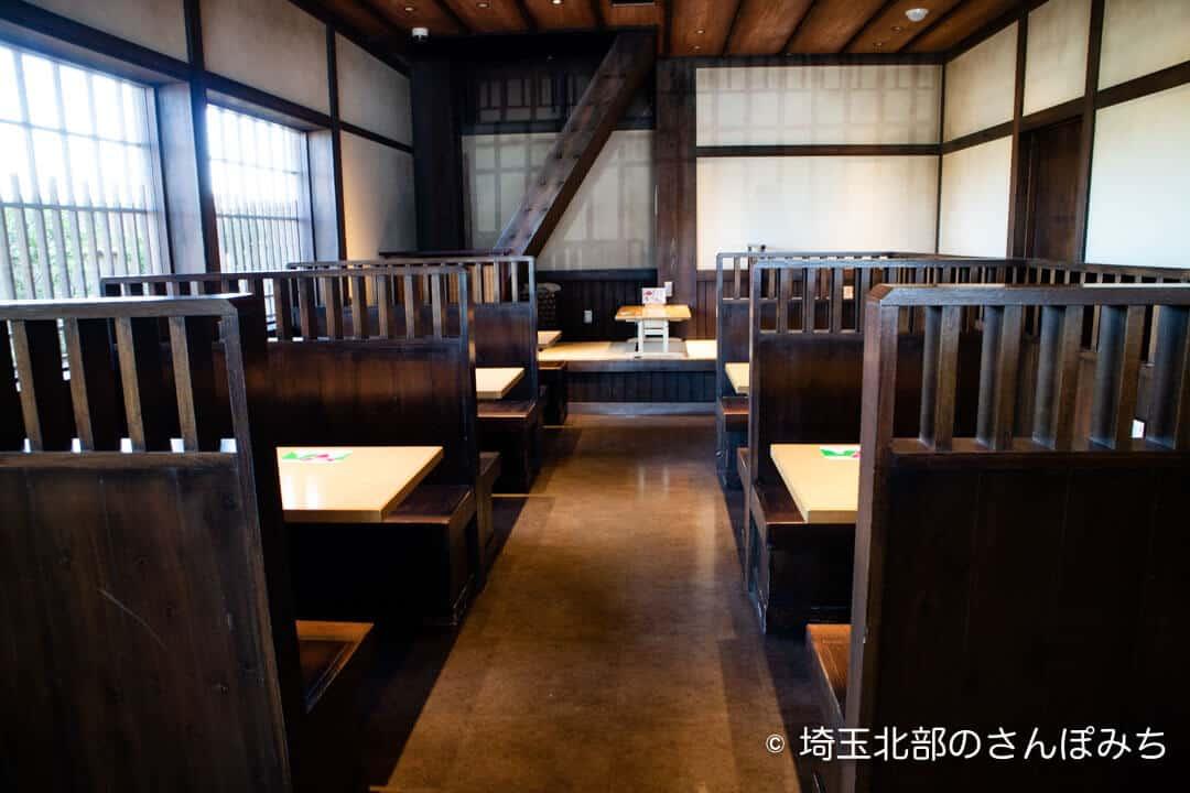 羽生PA上り鬼平江戸処の飲食スペース