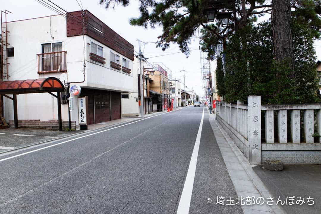 行田八幡神社前の八幡通り